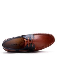 Imitation leather moccasin