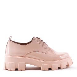 Derby en simili cuir