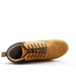 Basket en simili cuir pour homme