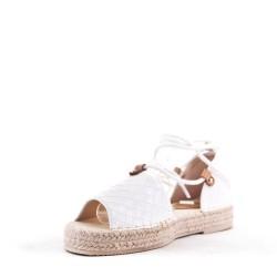 Sandale à semelle espadrille