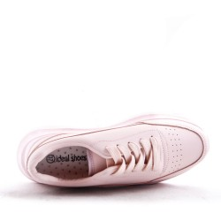 Basket en simili cuir pour femme