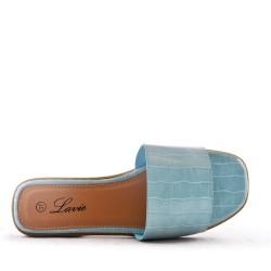Faux leather slipper