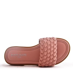 Children's faux leather slide
