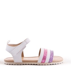 Girl's mixed materials sandal