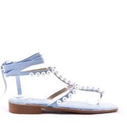 Sandale en mix matières pour femme