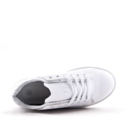 Women's faux leather lace up sneaker