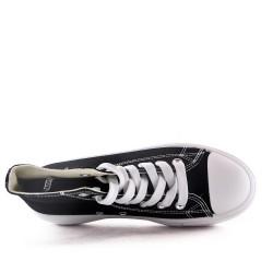 Women's textile wedge sneaker