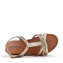 Sandalia de piel sintética