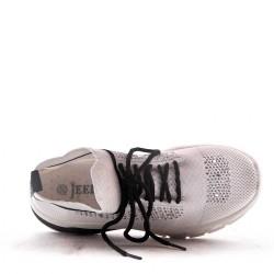 Basket lacet en textile pour femme