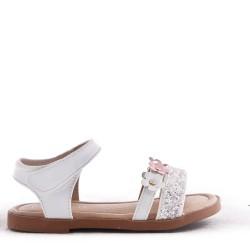 Girl's mixed materials sandal