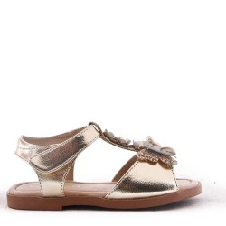 Girl's faux leather sandal