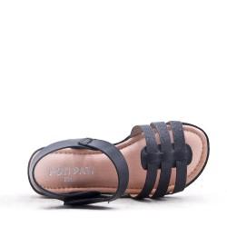 Sandale fille en mix matières