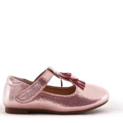 Girl's ballerina in faux leather