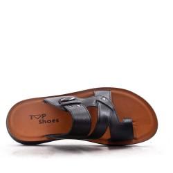 Men's faux leather flip-flop