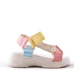Sandalia textil niña