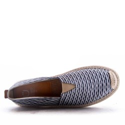 Men's textile moccasin