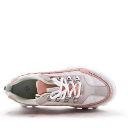 Mixed material sneaker for women