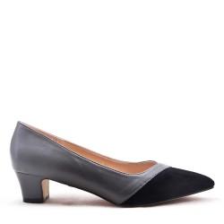 Medium heel pumps in faux leather for women