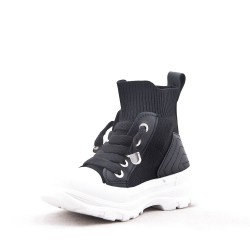 Children's high-top lace-up sneaker