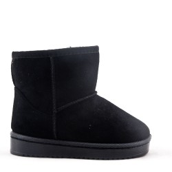 Girl's ankle boot in faux suede