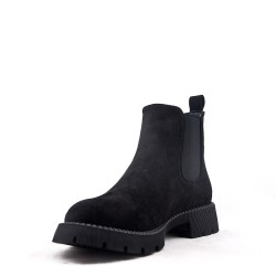 Ankle boot in a mix of materials for autumn and winter