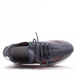 Men's textile lace-up basket