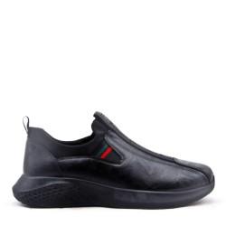Men's faux leather lace-up sneaker