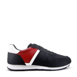Faux leather sneakers for men