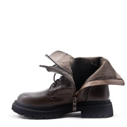 Faux leather children's boot
