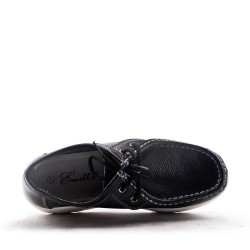 Women's leather lace up sneaker