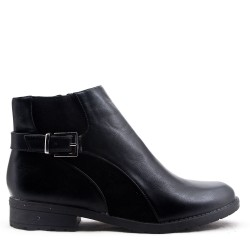 Large size-Mixed material ankle boot for women