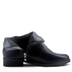Plus size - Women's faux leather ankle boot
