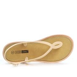 Sandale tong beige