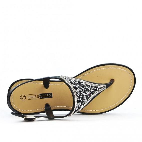 Sandale Strass À Noir Sandale À Tong Strass Tong Noir rCoWdxBeQE
