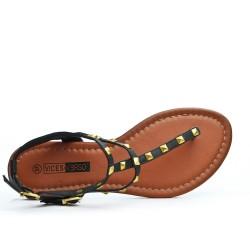 Sandale tong noire à multibrides