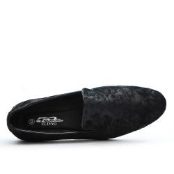 Mocassin noir en simili cuir