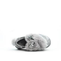 Basket lumineuse lapin gris pour fille