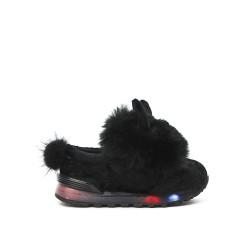 Basket lumineuse lapin noir pour fille