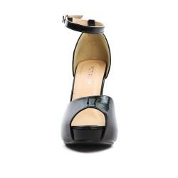 Sandale de soirée noire métallisé