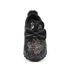 Basket lumineuse fille noir à motif lapin