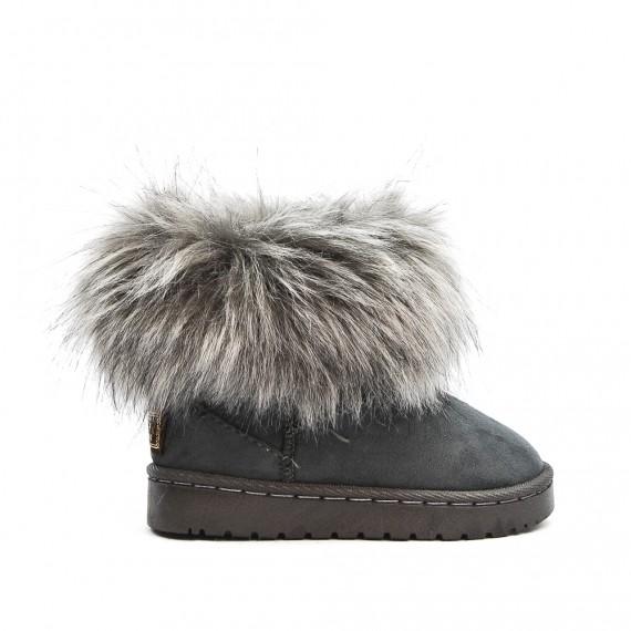 2019 original site officiel bonne vente de chaussures Botte fille fourrée grise