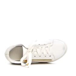 Basket fille blanche à lacet détail pailleté