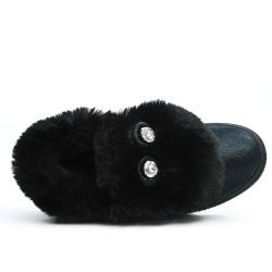 Basket noire à motif lapin