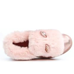 Basket rose à motif lapin