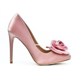 Escarpin rose à fleur