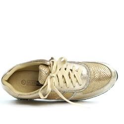Basket dorée ornée de strass à lacet