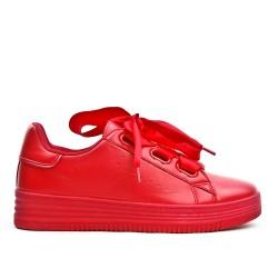 Basket rouge à lacet ruban