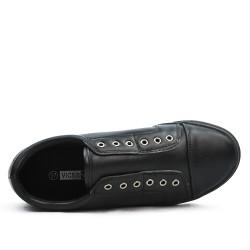 Basket noire en simili cuir
