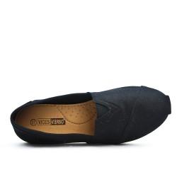 Chaussure noire en toile