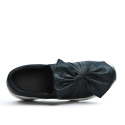 Basket noir à nœud